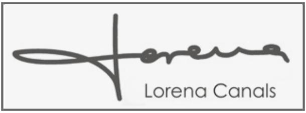 LORENA CANALS logotipo